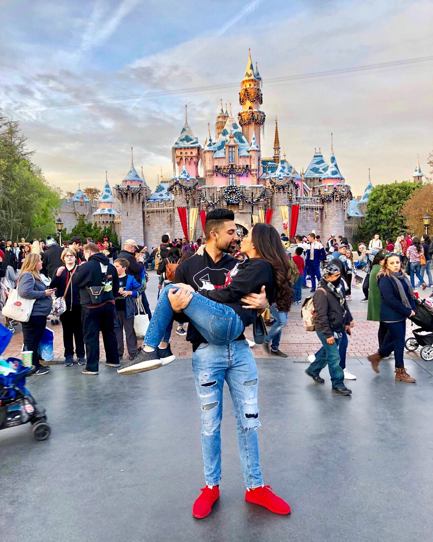 Dhar Mann and Laura G at Disneyland, California