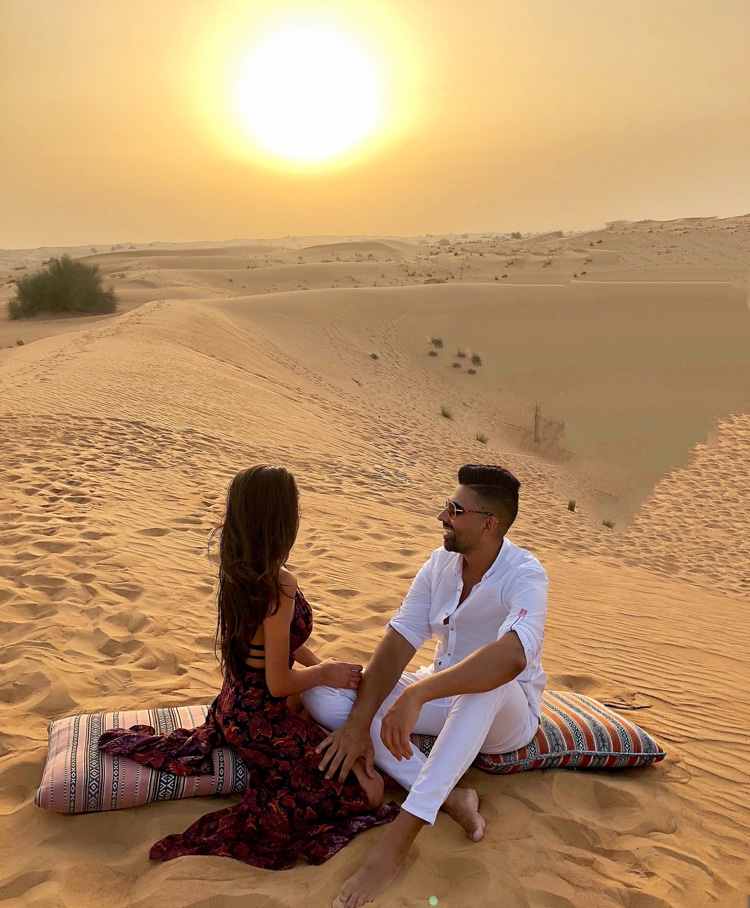 Dhar Mann and Laura G in Dubai