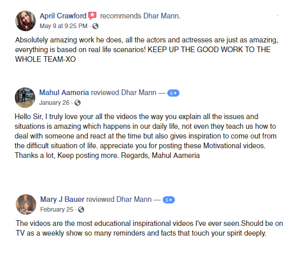 Dhar Mann Productions reviews