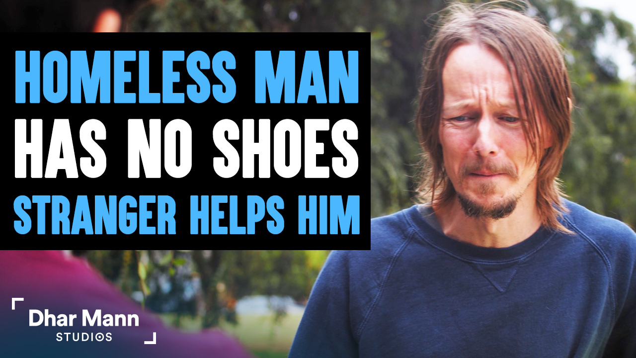 Homeless Man Doesn't Have Shoes, Stranger Changes His Life Forever