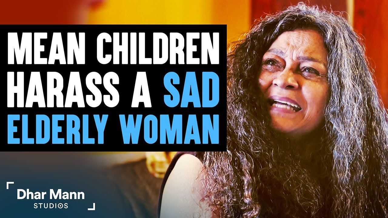 Mean Kids Harass Sad Elderly Woman, What Happens Next Is Shocking