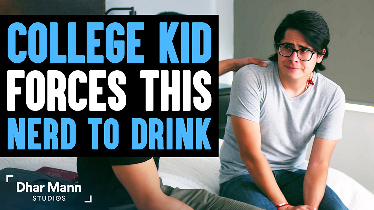 College Kid Forces This Nerd To Drink, He Lives To Regret It
