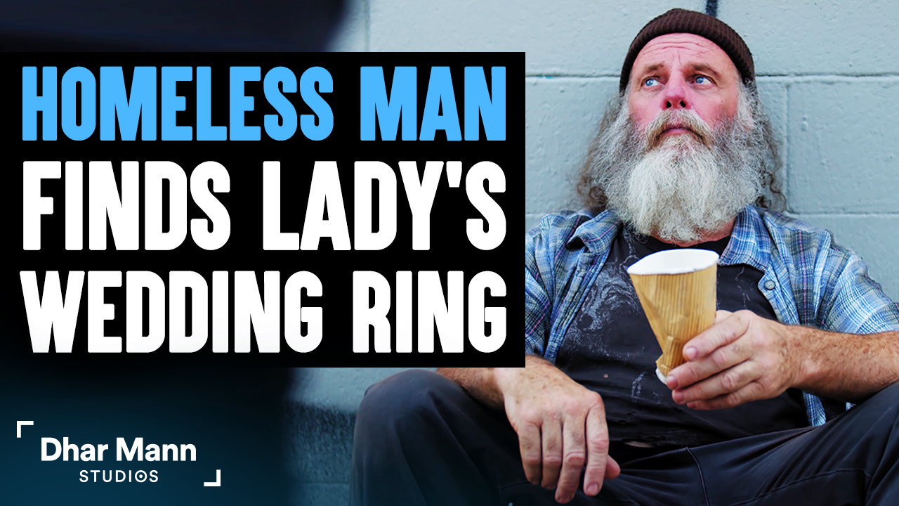Homeless Man Finds A Woman's Wedding Ring, Ending Is Shocking