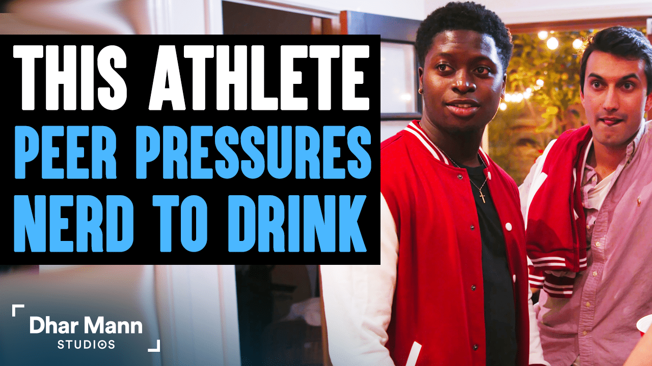 Athlete Peer Pressures Nerd To Drink