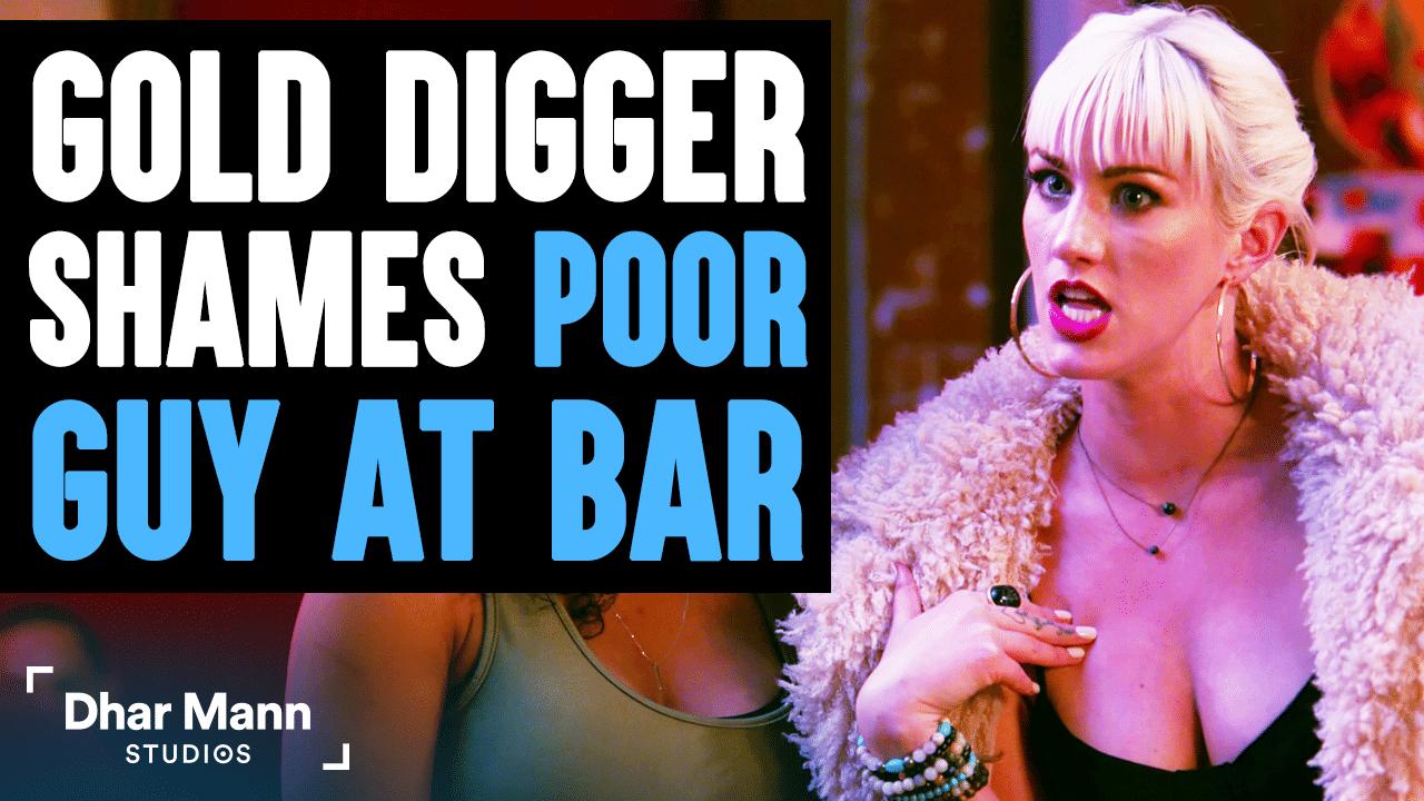 Gold Digger Shames Poor Guy At Bar, Lives To Regret It