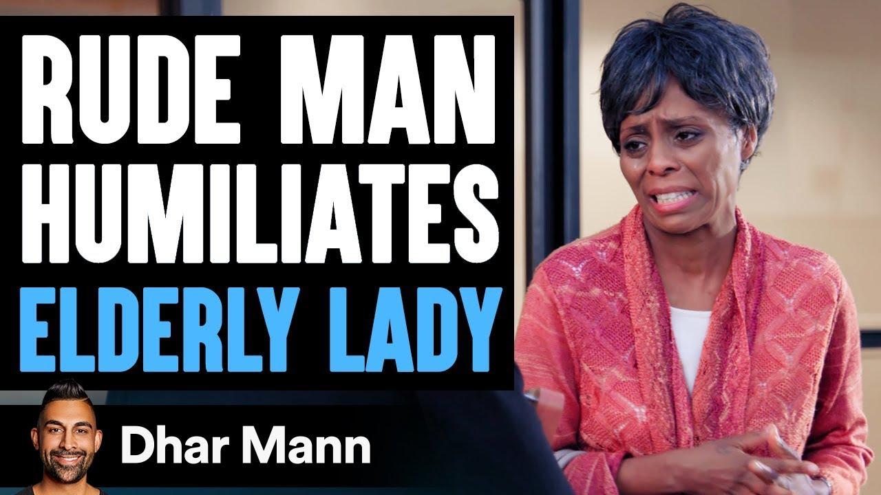 RUDE MAN Humiliates ELDERLY WOMAN, He Instantly Regrets It