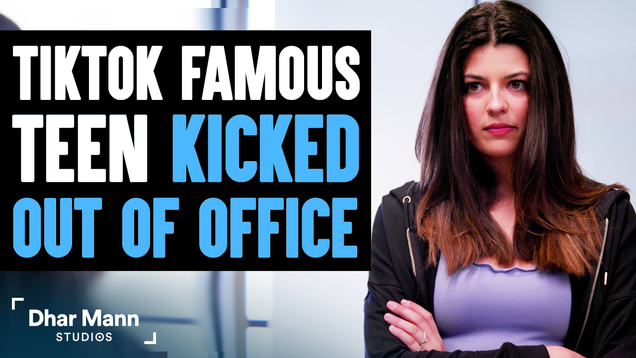 TikTok FAMOUS TEEN Kicked Out Of Office, Instantly Regrets It