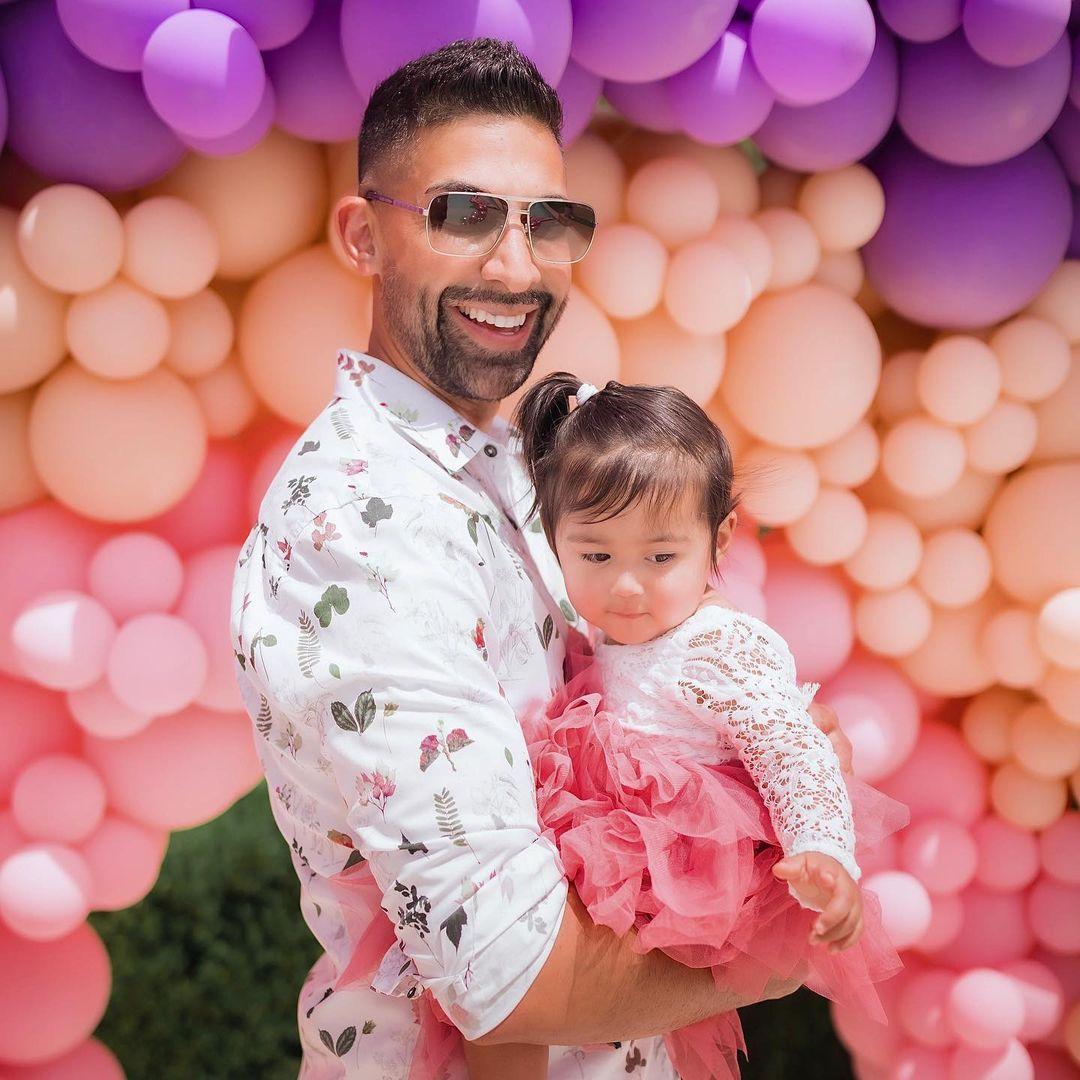 dhar mann and ella rose at birthday party