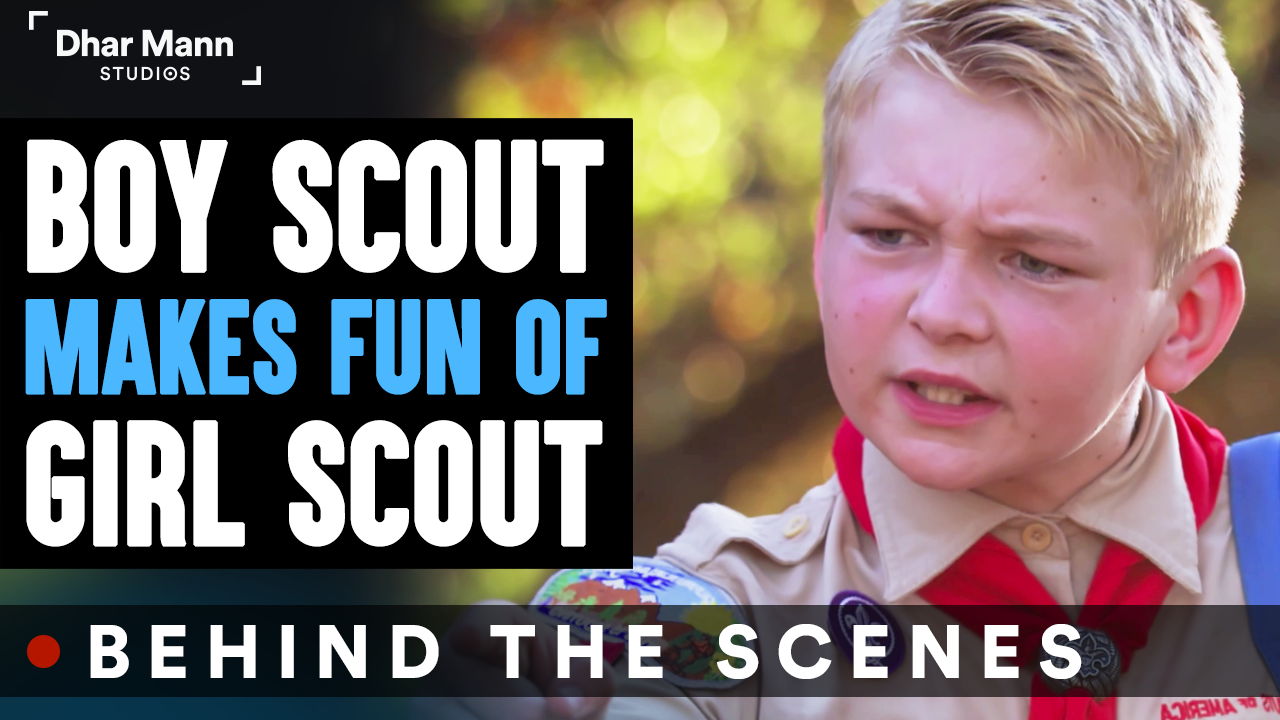 Boy Scout MAKES FUN Of GIRL SCOUT (Behind-The-Scenes)