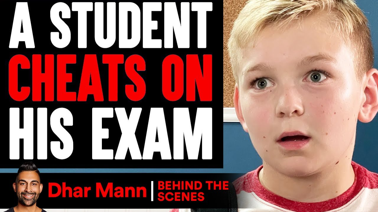 Student CHEATS On His EXAM (Behind The Scenes)