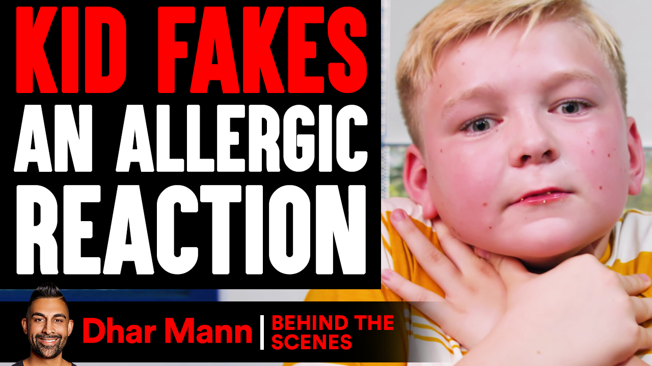 Kid FAKES BEING SICK To Skip Test (Behind The Scenes)