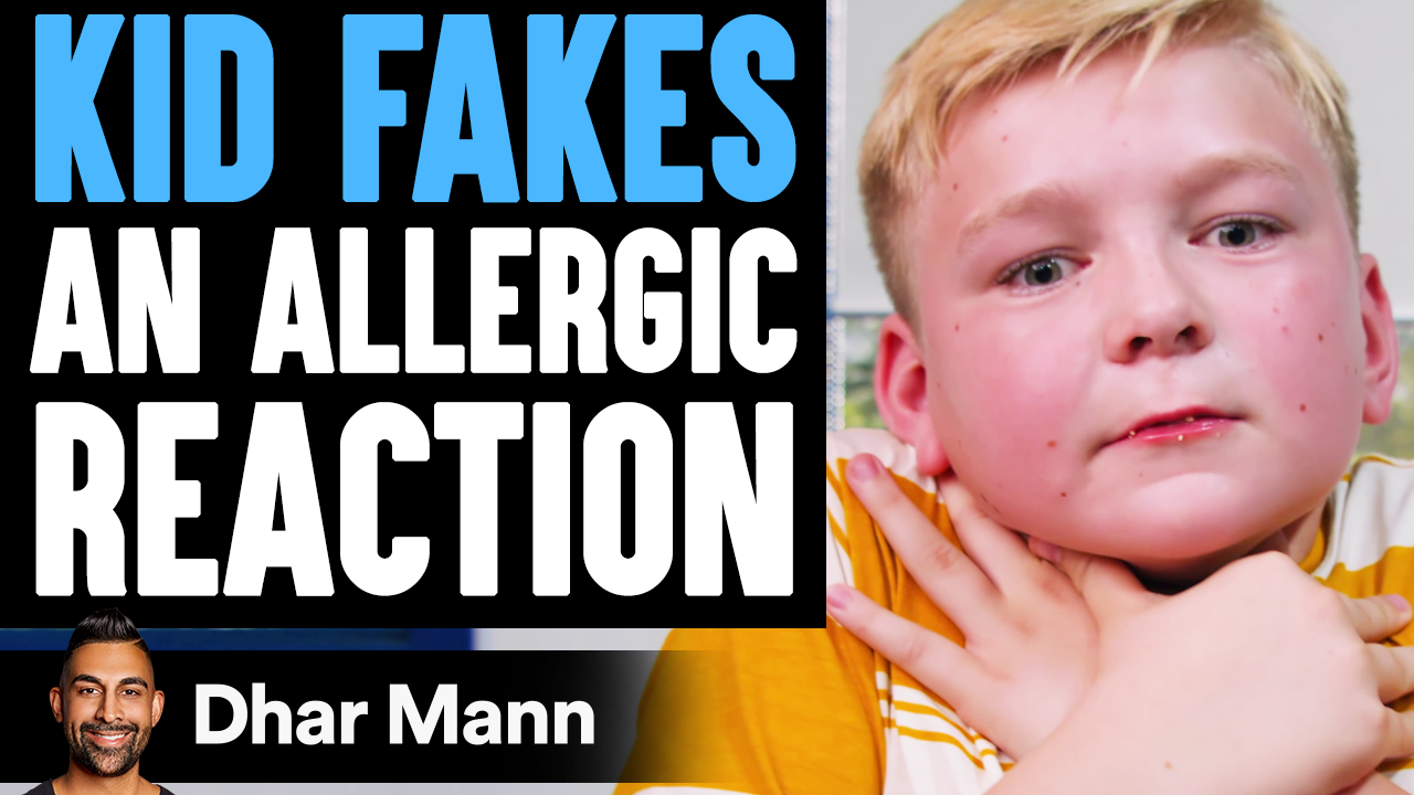 Kid FAKES ALLERGIC REACTION, He Instantly Regrets It