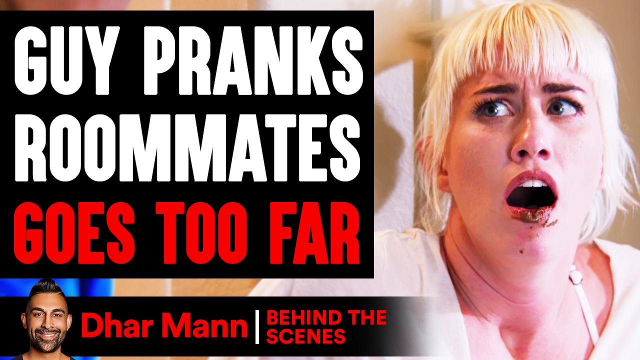 Guy PRANKS Roommates, GOES TOO FAR ft. Ben Azelart (Behind The Scenes)