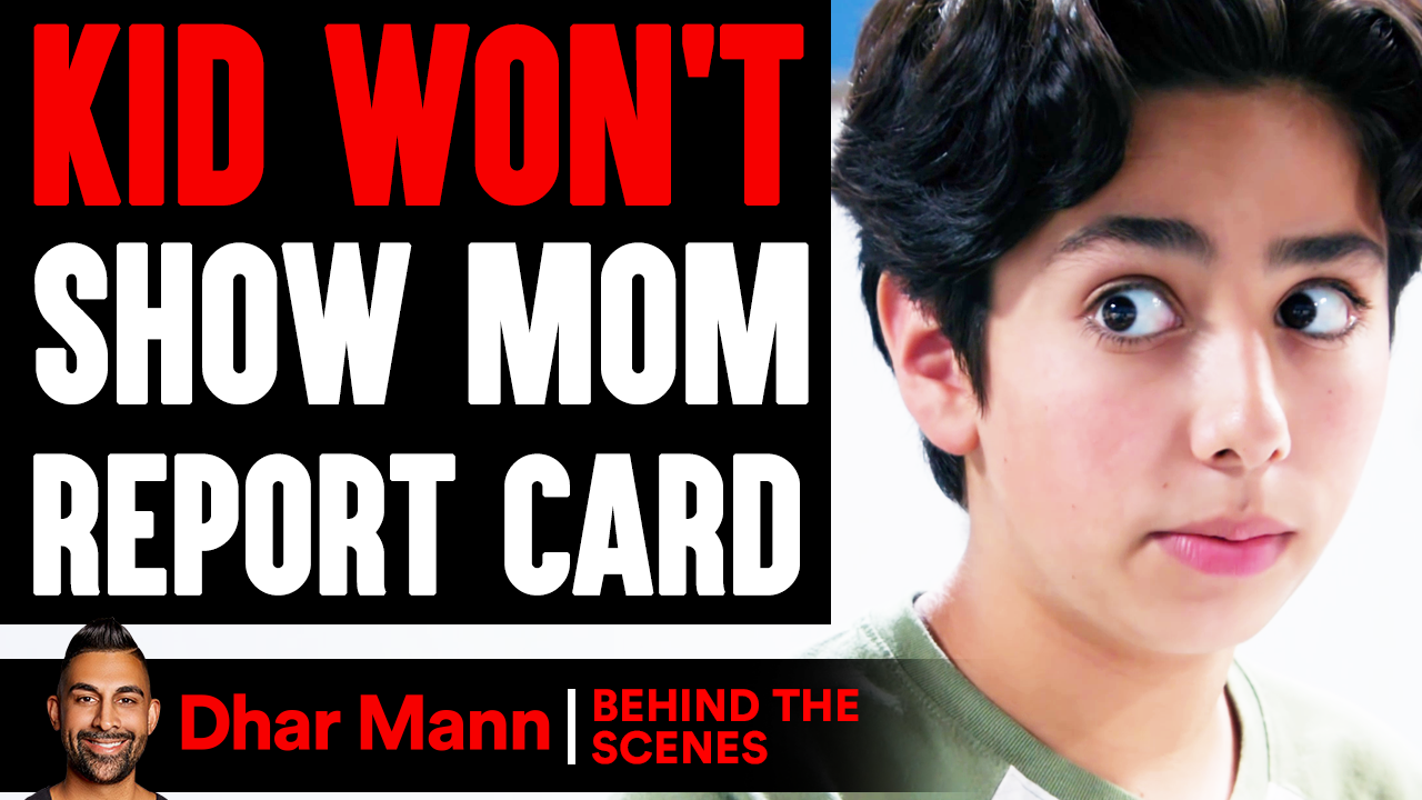 Kid WON'T SHOW MOM Report Card (Behind The Scenes)